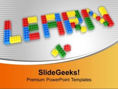 Word Learn Using Lego Blocks Education PowerPoint Templates Ppt Backgrounds For Slides 1212