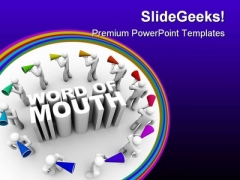 Word Of Mouth People PowerPoint Themes And PowerPoint Slides 0611
