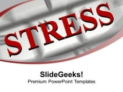 Word Stress On Computer Keyboard Business PowerPoint Templates Ppt Backgrounds For Slides 1212