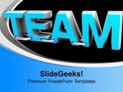 Word Team Tied To Each Other Effort PowerPoint Templates Ppt Backgrounds For Slides 0313