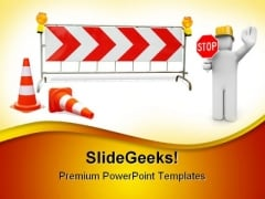 Work In Progress Sign Construction PowerPoint Templates And PowerPoint Backgrounds 0811
