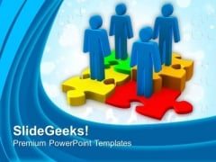Work With Team For Better Result PowerPoint Templates Ppt Backgrounds For Slides 0513