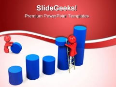 Working On Results Business PowerPoint Templates And PowerPoint Backgrounds 0811
