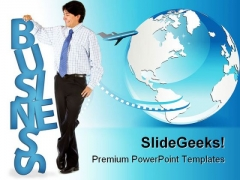 World Business PowerPoint Background And Template 1210