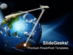 World Communication Globe PowerPoint Themes And PowerPoint Slides 0511