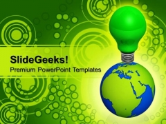 World Eco Idea Go Green PowerPoint Templates And PowerPoint Themes 0912