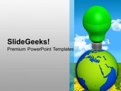 World Eco Idea Go Green PowerPoint Templates And PowerPoint Themes 1112