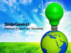 World Eco Idea Green Energy PowerPoint Templates And PowerPoint Themes 0912