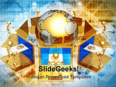 World Email Group Internet PowerPoint Templates And PowerPoint Backgrounds 0811