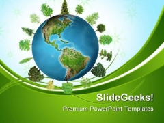 World Forest Geographical PowerPoint Themes And PowerPoint Slides 0411