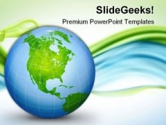 World Globe Geographical PowerPoint Templates And PowerPoint Backgrounds 0611