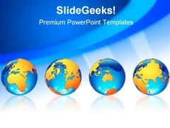 World Globes Business Template 1010