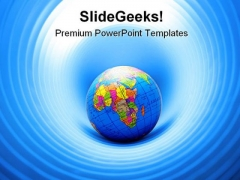 World In A Hole Globe Internet PowerPoint Templates And PowerPoint Backgrounds 0311