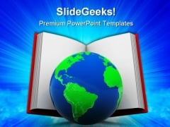 World In Book Education PowerPoint Templates And PowerPoint Backgrounds 0311