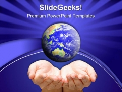World In Hand02 Global PowerPoint Templates And PowerPoint Backgrounds 0311