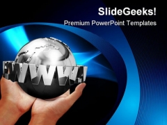 World In Hands Globe PowerPoint Templates And PowerPoint Backgrounds 0211