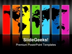 World Map Abstract PowerPoint Templates And PowerPoint Backgrounds 0811