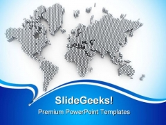 World Map Business PowerPoint Backgrounds And Templates 1210