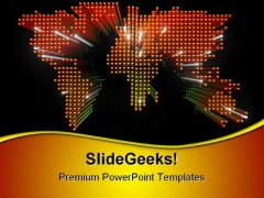 World Map Global PowerPoint Templates And PowerPoint Backgrounds 0611