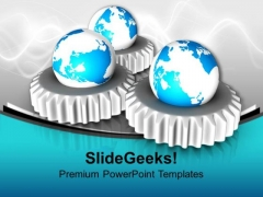 World Mechanism Globe PowerPoint Templates And PowerPoint Themes 1112