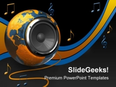 World Music Globe PowerPoint Themes And PowerPoint Slides 0211