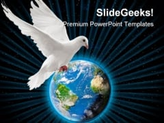 World Peace Globe PowerPoint Background And Template 1210