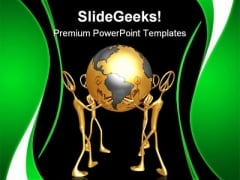 World Peace Globe PowerPoint Templates And PowerPoint Backgrounds 0811