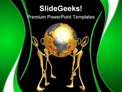 World Peace Globe PowerPoint Themes And PowerPoint Slides 0811