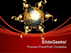 World Struggle Globe PowerPoint Themes And PowerPoint Slides 0811