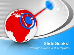 World Target Achieved Success Business PowerPoint Templates Ppt Backgrounds For Slides 0313
