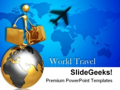World Travel Business PowerPoint Templates And PowerPoint Backgrounds 0811