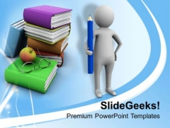 Write Books And Become Writer PowerPoint Templates Ppt Backgrounds For Slides 0713