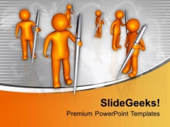 Write For Your Community Problem PowerPoint Templates Ppt Backgrounds For Slides 0713