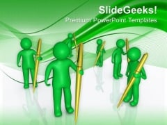 Write Socail Blogs For Welfare PowerPoint Templates Ppt Backgrounds For Slides 0613