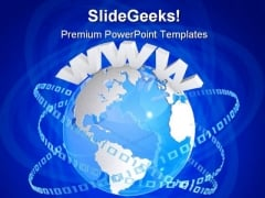 Www Digital Globe Earth PowerPoint Themes And PowerPoint Slides 0611