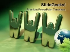 Www Globe Internet PowerPoint Backgrounds And Templates 1210