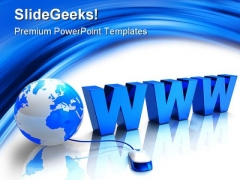 Www Internet Globe PowerPoint Themes And PowerPoint Slides 0411