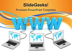 Www Networking Computer PowerPoint Templates And PowerPoint Backgrounds 0611
