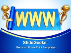 Www Web Builders Internet PowerPoint Themes And PowerPoint Slides 0311