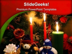 Xmas Spirit Christmas PowerPoint Template 0610