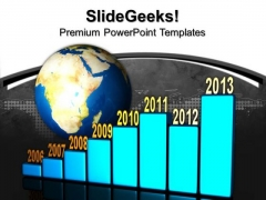 Yearly Business Graph Global PowerPoint Templates And PowerPoint Themes 0912