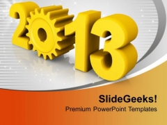 Yellow 2013 New Year Targets Goal Aim PowerPoint Templates Ppt Backgrounds For Slides 0113