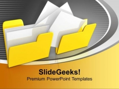 Yellow Copy And Paste Folders Computer PowerPoint Templates Ppt Backgrounds For Slides 0113