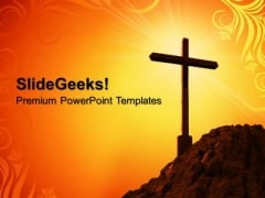 Yellow Cross Symbol PowerPoint Templates And PowerPoint Themes 0712