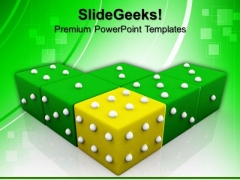 Yellow Dice Winning Leadership PowerPoint Templates And PowerPoint Themes 0612