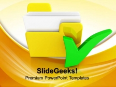 Yellow Folder Computer PowerPoint Templates And PowerPoint Themes 0812