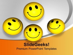 Yellow Smileys Success Friendly Relations PowerPoint Templates Ppt Backgrounds For Slides 0113