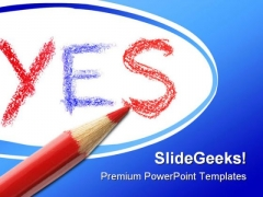 Yes Future PowerPoint Template 1010