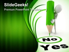 Yes No Metaphor PowerPoint Themes And PowerPoint Slides 0311