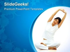Yoga Exercise Health PowerPoint Themes And PowerPoint Slides 0811